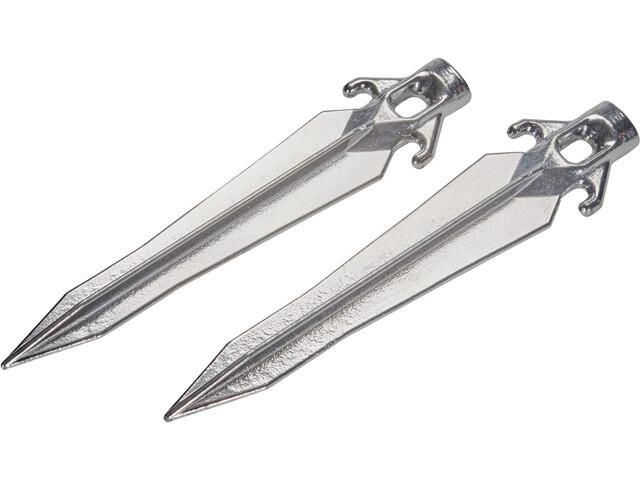 CAMPZ Sardines de tente universelles 25cm set de 2, silver
